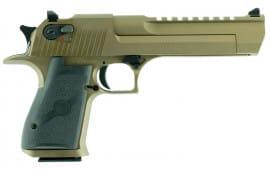 "Magnum Research DE50BB Desert Eagle Single 50 Action Express (AE) 6"" 7+1 Black Polymer Grip Burnt Bronze"