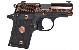 "Sig Sauer 238380ERG P238 Single 380 ACP 3"" 7+1 Black G10 Grip Rose Gold PVD Stainless Steel"