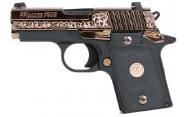 "Sig Sauer 9389ERGAMBI P938 Single 9mm 3"" 6+1 Black G10 Grip Polished Rose Gold"