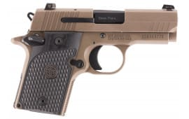 "Sig Sauer 9389ESCPNAMB P938 Emperor Scorpion Single 9mm Luger 3"" 6+1/7+1 NS Black Hogue G10 Piranha Grip Flat Dark Earth PVD"