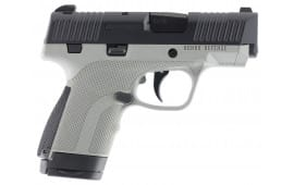 "Honor Defense HG9SCGRA Honor Guard Sub-Compact Double 9mm Luger 3.2"" 7+1/8+1 Battleship Gray Interchangeable Backstrap Grip Black Stainless Steel"