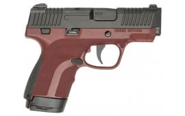 """Honor Defense HG9SCMSMAH Honor Guard Sub-Compact Double 9mm Luger MS 3.2"""" 7+1/8+1 Mahogany Interchangeable Backstrap Grip Black Stainless Steel"""