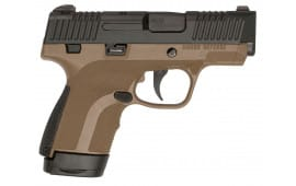 """Honor Defense HG9SCMSFDE Honor Guard Sub-Compact Double 9mm Luger MS 3.2"""" 7+1/8+1 Forest Green Interchangeable Backstrap Grip Black Stainless Steel"""