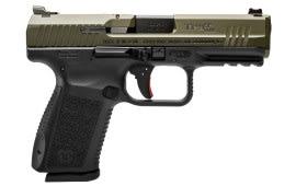 "Century HG3898GN TP9SF Elite DA/SA 9mm Luger 4.2"" 15+1 Black Interchangeable Backstrap Grip OD Green"