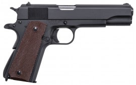 "Thompson 1911BKO9 1911 Single 9mm 5"" 7+1 Brown Polymer Grip Black"