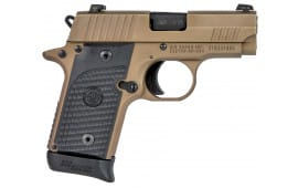 "Sig Sauer 238380ESCPN P238 Emperor Scorpion Single 380 ACP 2.7"" 6+1/7+1 Black G10 Grip Flat Dark Earth Stainless Steel"
