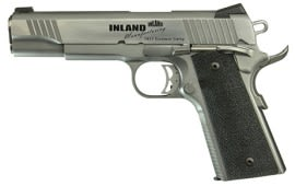 "Inland 1911 Custom Carry 45 ACP Pistol, 5"" Stainless Steel Novak 7rd - ILM1911TC - By MKS - Made In The U.S.A."