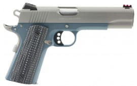 """Colt O1072CCSBT 1911 Competition 70 Series 9mm Luger 5"""" 9+1 Blue G10 w/Logo Grip Stainless Steel"""