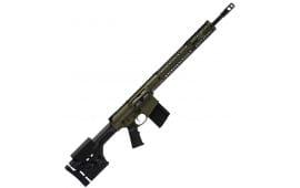"""Black Rain BROPREDATOROD18308 Hunting BRO Predator Semi-Auto 308 Winchester/7.62 NATO 18"""" 30+1 Magpul PRS OD Green Cerakote"""