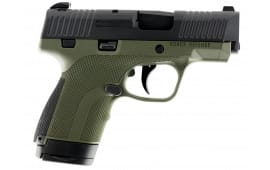 "Honor Defense HG9SCOD Honor Guard Double 9mm Luger 3.2"" 7+1 OD Green Interchangeable Backstrap Grip Black Stainless Steel"