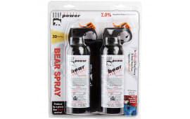 Udap BS2 Bear Spray 7.9oz/225g Up to 35 Feet 2-Pack Black