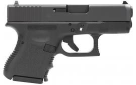 """Glock PI3350201 G33 Standard Double 357 Sig 3.42"""" 9+1 Black Polymer Grip/Frame Grip Black"""