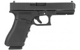 "Glock PI3750201 G37 Standard Double 45 GAP 4.48"" 10+1 Black Polymer Grip/Frame Grip Black"