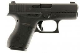 "Glock UI4250701 G42 Subcompact Double 380 ACP 3.25"" 6+1 Black Polymer Grip/Frame Grip Black"