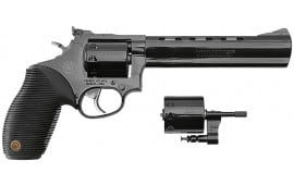 "Taurus 2992041 Model M992 Tracker 22 LR/22 Mag 4"" 9 Ribber Grip Overlay Blued"