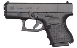 "Glock UG2750201 G27 Gen 4 Subcompact Double 40 S&W 3.42"" 9+1 Black Interchangeable Backstrap Grip Black"