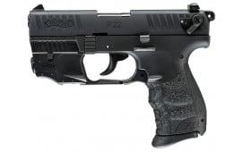 "Walther Arms 5120529 P22 QD DA/SA 22 LR 3.42"" 10+1 Black Interchangeable Backstrap Grip Black Polymer Frame"