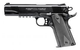 "Walther Arms 5170308 1911 Single 22 LR 5"" 12+1 Black Polymer Grip Black w/ Rail"