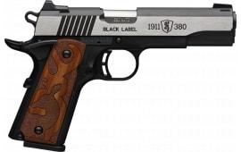 Browning 051-951492 1911 380 BLKLBL 3D 35/8 MED BM Grip