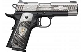 Browning 051-959492 1911 380 BLKLBL 3D 35/8 HG PRL