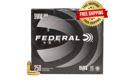 Federal Black Pack 9mm Luger 115 GR Full-Metal Jacket Round Nose 1000 Round Case - Free Shipping