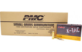 PMC 5.56X X-Tac 5.56 NATO 1000 Round Case - Full Metal Jacket Boat-Tail 55 GR, Brass, Boxer, N/C, Reloadable - 1000 Round Case