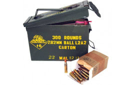 Malaysian 7.62 NATO/.308 147 GR FMJ Ball Ammo - 300rd Can