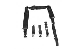NcStar 2 Point Convertible Tactical Sling, Black, Fully Adjustable