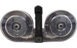 AR15/M16 100 Round Dual Drum Magazine with Clear Cover, .223/5.56