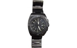 Smith and Bradley San-13 Evolution Tactical Wrist Watch, PVD Black over Stainless.