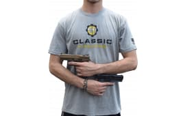 Classic Firearms T-Shirt - Heather Grey