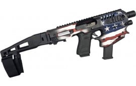 CAA USA Micro Conversion Kit, Glock Handguns 17/19/19X/22/23/31/32/45 NO NFA REQUIRED Limited Edition Patriot Flag - MCKUSA