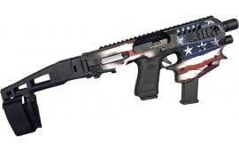 RONI Micro Conversion Kit, Glock Handguns 17/19/19X/22/23/31/32/45 NO NFA REQUIRED Limited Edition Patriot Flag - MCKUSA