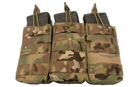 Guard Dog Body Armor Triple Magazine Pouch - Holds (3) AR-15 Magazines - Multicam - TRIPLEMAG-MC