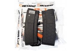 Hexmag AR-15 5.56/.223/.300 Black 30 Round Magazine - 10 Mag Pack - HX30ARBLK