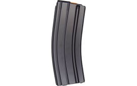 AR-15 .223/5.56NATO 30-rd Aluminum Aftermarket Magazine W/ Orange Follower - Black