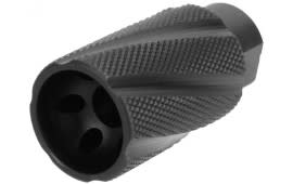 Tacfire Knurled Linear Compensator Sound & Concussion Forwarder - 14x1 LH Thread Pitch - Black Nitride - MZ2023