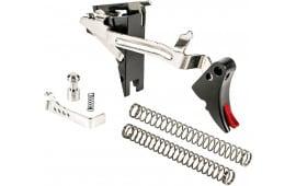 ZEV Technologies Adjustable Fulcrum Trigger Drop-In Kit, 4th Gen, 9mm, Black/Red FULDRP4G9BR