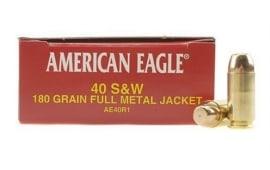 American Eagle 40 S&W 180gr FMJ AE40R1 - 1000rd Case