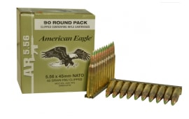 Federal XM855AF90 XM Rifle Ammunition 5.56 NATO on Stripper Clips - 90rd Box