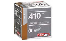 """Aguila 1C4100BA Hunting 410GA 2.5"""" Buckshot 1/2oz 00 Buck - 25sh Box"""