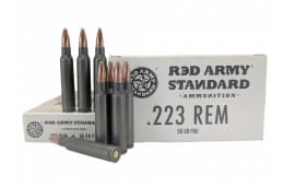 Red Army Standard AM3089 Case - .223 Remington, 55 GR, Laquer Coated Steel Case, Non-Corrosive FMJ - 1000 Round Case
