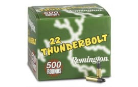 Remington Thunderbolt .22 LR 40gr LRN Lead Round Nose Ammo - 500rd  Box