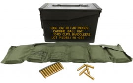 Korean Manufacture Surplus .30 M1 Carbine 110 GR FMJ Ball Ammunition - 1080 Round Can
