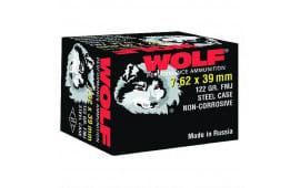 Wolf Performance 7.62x39 122 GR Ammo, FMJ Non Corrosive - 1000 Round Case