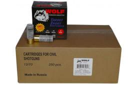 """Wolf Shotgun Shells, Case, 12 Gauge, 2-3/4"""", 1 Ounce, # 8 Shot - Wolf Target Sport - 250 / Case"""