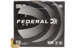 Federal Black Pack 9mm Luger 115gr Full-Metal Jacket Round Nose 250rd Box