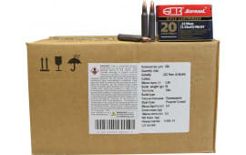 Barnaul .223/5.56, 55-Grain, FMJBT- Polymer Coated, Steel Case, N/C - 500rd Case