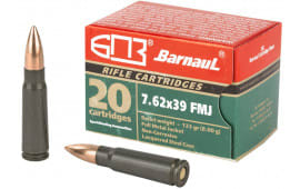 Barnaul 762X39FMJ123, 7.62x39, 123 GR FMJ - 20rd Box