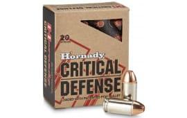 Hornady 90900 Critical Defense 45 ACP 185 GR Flex Tip Expanding - 200 Round Case